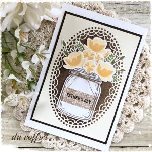 【手づくりカード】父の日にもお花のカードを作って贈りませんか?