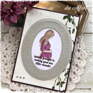 マタニティーカードを再び。ご結婚のお祝いのカードも。
