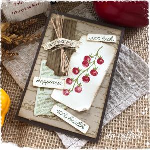 ミニトマトが可愛い♡ベジタブルのカードを作ってみました。【その1】