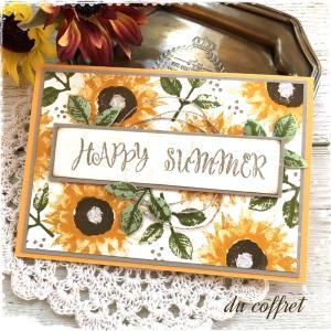 もうすぐ夏~♪…ひまわりのカードを贈りませんか?そして、今後の活動についてのお知らせ