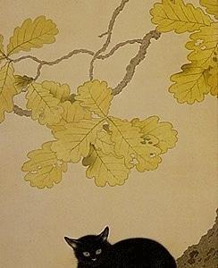 菱田春草「黒き猫」(1910年)