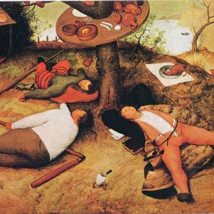ブリューゲル「怠け者の天国」(1567年)