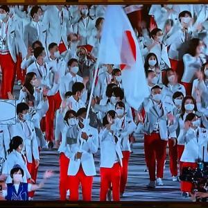 深センで東京オリンピック開会式をテレビで見る
