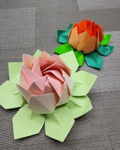 簡単、バラの折り紙