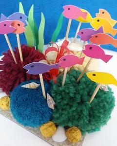 サンゴ礁に熱帯魚 デイサービスの創作