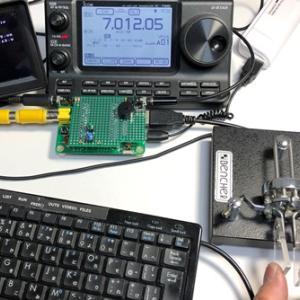 IchigoJamでCWキーヤー(3):無線機との接続と速度調節キー