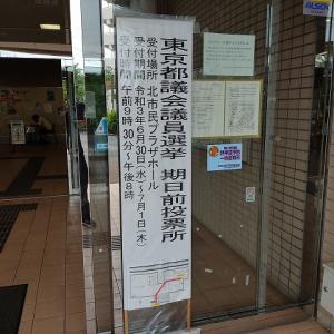 東京都議会議員選挙期日前投票