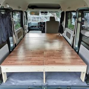 エブリィを車中泊仕様に。自作ベッド・テーブル・ルーフバー 製作編