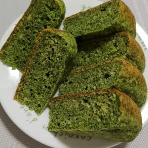 分厚い濃緑パンケーキ