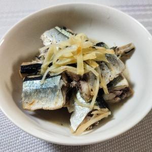赤くない紅生姜の秋刀魚煮