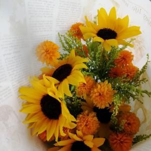 お花を頼んできた…