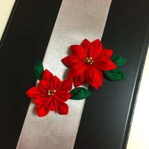 つまみ細工教室ーポインセチア クリスマス飾りー