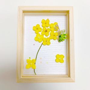 つまみ細工教室ー菜の花の壁飾り