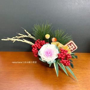 お正月飾りレッスン 葉牡丹