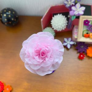 お供え花をつまみ細工で