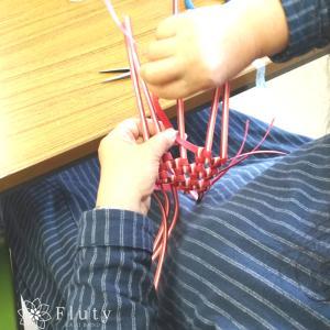 【初!】編み物のようにひたすら編みました。