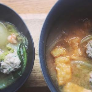 豚つくねと白菜の辛味噌スープ