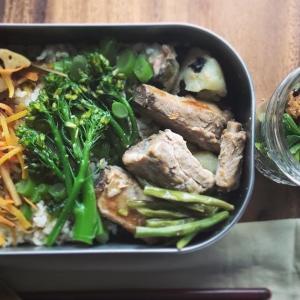 スペアリブの煮付けと野菜惣菜の三彩弁当