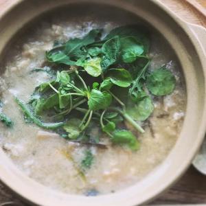 玄米と春野菜の玉子とじ雑炊