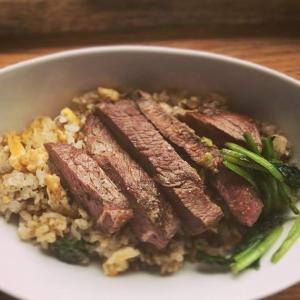 山葵醤油のビーフステーキ炒飯
