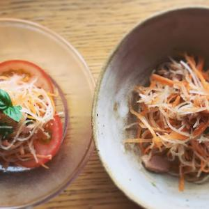 大根と人参とツナの自家製ポン酢と柚子胡椒和え