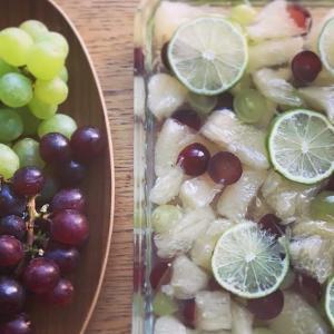 ポメロと葡萄のゼリー