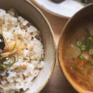 油淋鶏と茄子の味噌炒めの献立