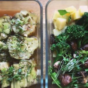 茄子とポテトの野菜のお惣菜