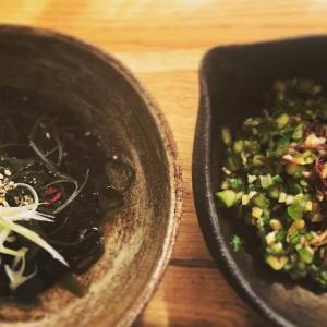 野菜のお惣菜:わかめと白髪ねぎのマリネ/オクラの山形のだし風マリネ