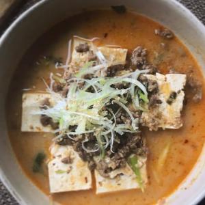 坦々豆腐の献立
