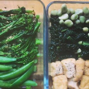 野菜のお惣菜 おひたしと煮付け