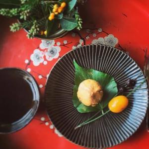 さつま芋の栗きんとんと金柑の甘露煮