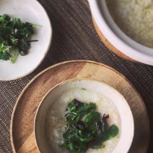 もちあわ入り七草粥 rice and millet porridge with herbs