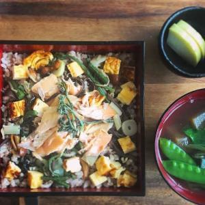 山菜と鱒のちらし寿司