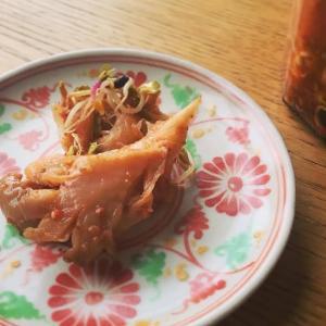 平茸とラディッシュスプラウトのキムチ