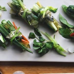 お漬物と葉野菜の箸休め