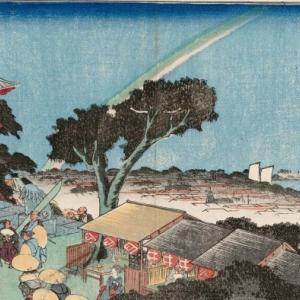 【浮世絵】江戸の虹はときどき逆に出た???【広重初代】
