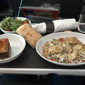 プレミアム・エコノミー・クラスの食事は美味しかったです。