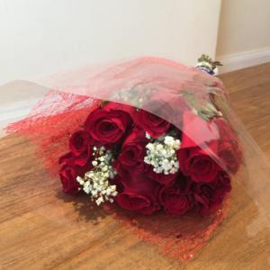 バレンタイン・デーの花束配達サービスの責任者に初挑戦しました。