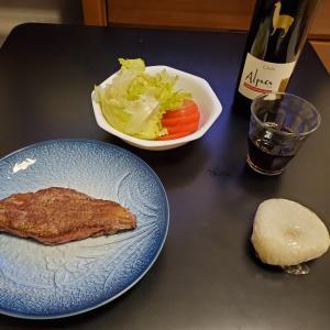 父子家庭 一人ステーキ。