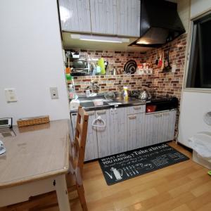父子家庭のキッチン100均DIY。
