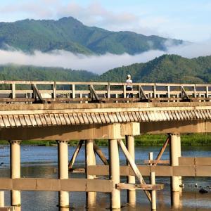 彼岸花 / 京都・嵐山渡月橋