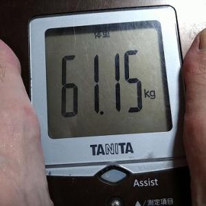 減量66日目で「-10.35kg」