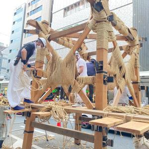 今年の祇園祭①鉾建て