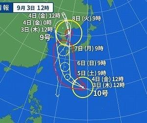 台風の風圧