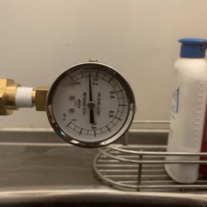 水圧を測定しました
