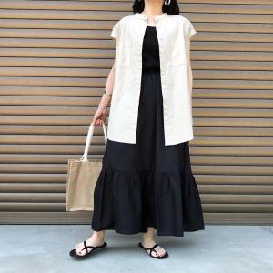 GUの「ティアードロングスカート」の使用感レビュー!トレンド感のある絶妙なフェミニン感が素敵♪通気性もばっちりで穿き心地良好。おすすめのスカートです。