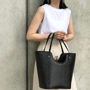 q bag parisの「Qバッグ basket oeuf」の使用感レビュー!超大容量で高級感あふれる上品なかごバッグ。機能面&デザイン面ともに優秀。おすすめのバッグです♪
