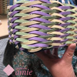 ステキな色のよろい編み