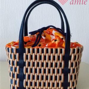 縦編みバッグ書籍のアレンジ